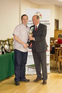 Senior Snooker Finalist - Matt Lee